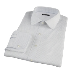 140s Light Blue Fine Stripe Dress Shirt