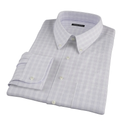 Canclini Grey Glen Plaid Fitted Dress Shirt
