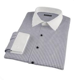 Black Medium Gingham Custom Made Shirt