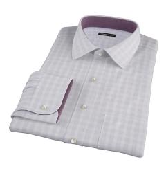 Canclini Grey Glen Plaid Men's Dress Shirt