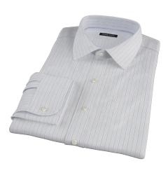 Canclini Grey Multi Stripe Men's Dress Shirt
