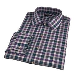 Vincent Pine and Violet Plaid Custom Made Shirt