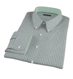 Canclini 120s Green Multi Gingham Tailor Made Shirt
