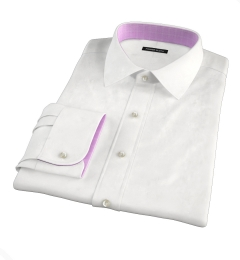 Portuguese White Fine Cotton and Linen Fitted Shirt