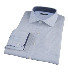 Albini Light Blue Oxford Chambray Custom Dress Shirt