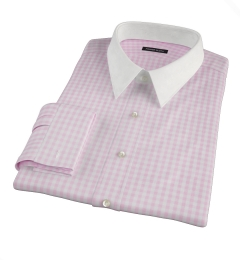 Medium Pink Gingham Custom Dress Shirt