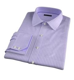 Trento 100s Lavender Check Custom Dress Shirt