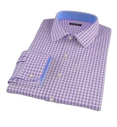 Medium Purple Gingham Dress Shirt