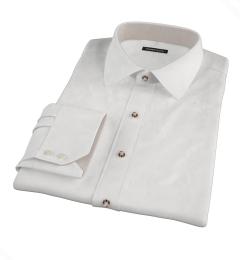 White Heavy Oxford Cloth Custom Dress Shirt