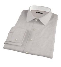 Grey Herringbone Flannel Custom Dress Shirt