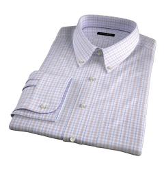 Novara Beige and Light Blue Check Dress Shirt