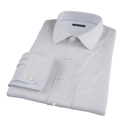 Thomas Mason Goldline Blue Tattersall Fitted Dress Shirt