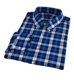 Cascade Cobalt Plaid Flannel Custom Made Shirt