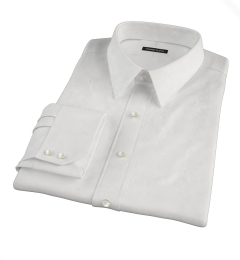 DJA Sea Island White Royal Twill Dress Shirt