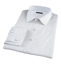 Light Blue 80s Striped Pinpoint Custom Dress Shirt