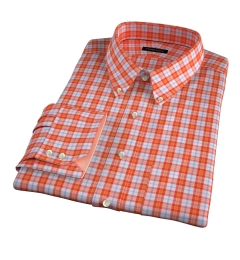 Varick Orange Multi Check Custom Made Shirt