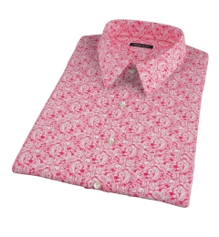 Canclini Red Paisley Print Short Sleeve Shirt