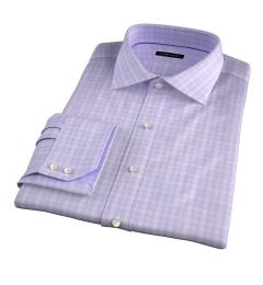 Thomas Mason Goldline Lavender Glen Plaid Custom Made Shirt