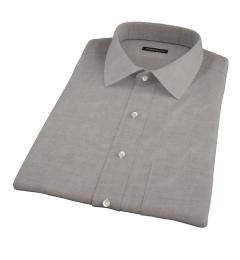 Charcoal Heavy Oxford Cloth Short Sleeve Shirt