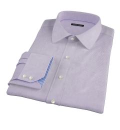 Thomas Mason 120s Lavender Mini Grid Custom Made Shirt