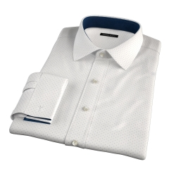 Navy on White Printed Pindot Tailor Made Shirt