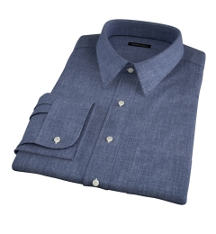 Albini Slate Blue Delave Custom Made Shirt