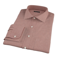 Canclini Cedar Houndstooth Beacon Flannel Fitted Dress Shirt