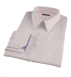 Pink Fine Twill Fitted Shirt
