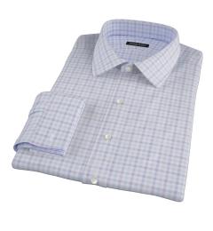 Thomas Mason Lavender Multi Check Custom Made Shirt
