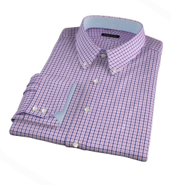 Grandi and Rubinelli 120s Red Blue Check Custom Made Shirt