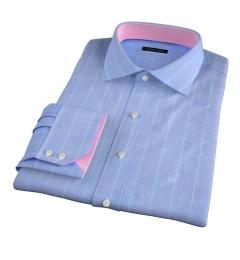 Carmine Blue Pink Prince of Wales Check Custom Made Shirt