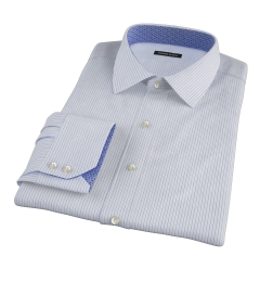Wrinkle Resistant Blue Multi Stripe Dress Shirt
