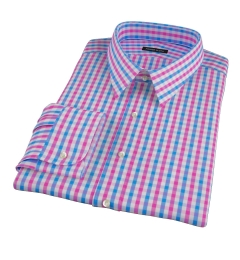 Pink and Blue Gingham Custom Made Shirt