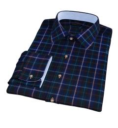 Wythe Blue and Green Plaid Custom Made Shirt
