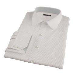 Morton Wrinke-Resistant Red Stripe Dress Shirt