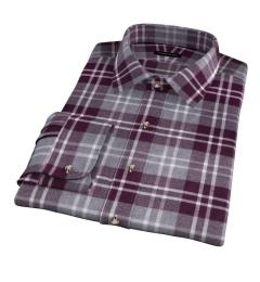 Scarlet and Cinder Large Plaid Flannel Men's Dress Shirt