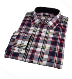 Dorado Navy Plaid Men's Dress Shirt