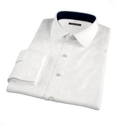 White 100s Herringbone Custom Dress Shirt