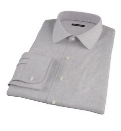Light Grey Heathered Flannel Custom Dress Shirt