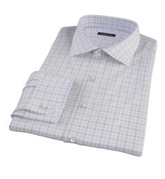 Thomas Mason Brown Multi Check Fitted Shirt