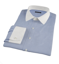 Blue Wrinkle Resistant Cavalry Twill Dress Shirt