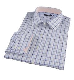 Thomas Mason Navy Grey Check Men's Dress Shirt