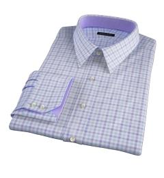 Thomas Mason Lavender Multi Check Custom Dress Shirt