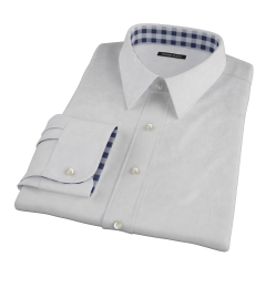 Bowery Light Grey Pinpoint Dress Shirt