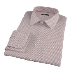 Canclini Brown Mini Gingham Men's Dress Shirt