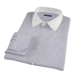 Grey 100s End-on-End Fitted Shirt