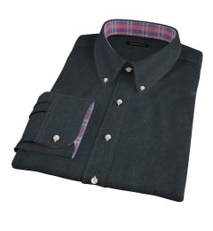 Canclini Green Twill Flannel Dress Shirt