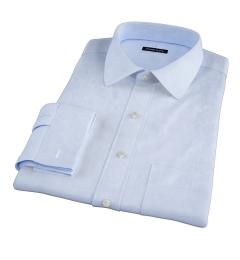 Thomas Mason Goldline Light Blue Fine  Twill Men's Dress Shirt