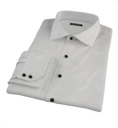 Canclini Light Gray End on End Men's Dress Shirt