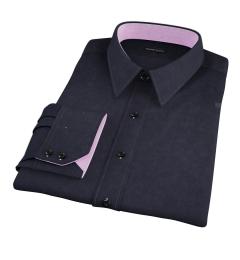 Black 100s Twill Custom Made Shirt